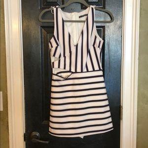 Zara Trafaluc striped romper size S